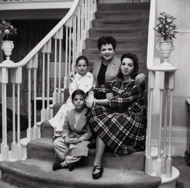 Judy Garland; Liza Minnelli; Lorna Luft and Joey Luft by Bob Collins