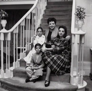 Judy Garland; Liza Minnelli; Lorna Luft and Joey Luft by Bob Collins