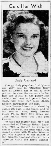 Judy gets her wish - Judy Garland in