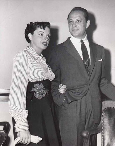 Judy Garland and Sid Luft appear in court, May 15, 1952