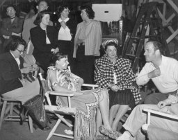 May 2, 1949 On the set