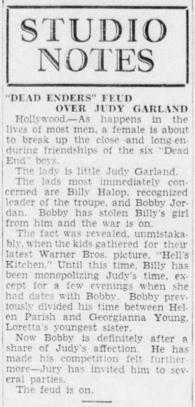 Judy Garland dates Billy Halop