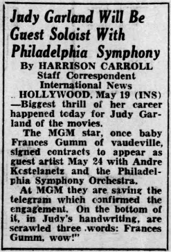 Judy Garland and Andre Kostelanetz