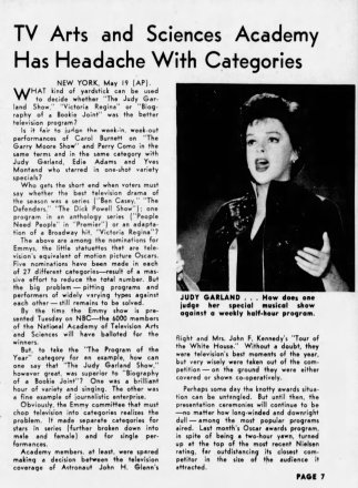 The Judy Garland Show Emmy Nominations