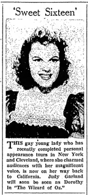 Judy Garland is Sweet Sixteen