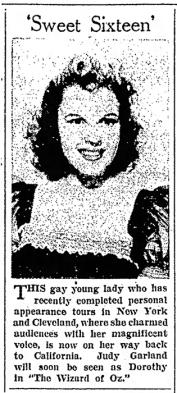 Judy Garland is Sweet Sixteen