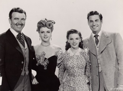 Preston Foster, Angela Lansbury, Judy Garland, John Hodiak - The Harvey Girls 1946