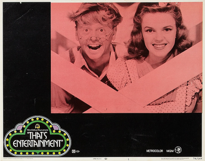 """That's Entertainment!"" lobby card 1974 Judy Garland and Mickey Rooney"