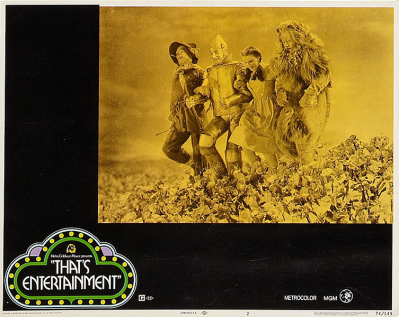 """""""That's Entertainment!"""" lobby card 1974 Judy Garland The Wizard of Oz"""