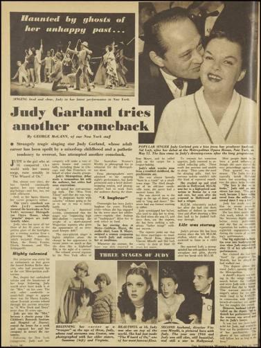 Australian Women's Weekly article on Judy Garland June 10, 1959