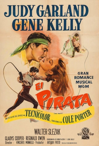 """Judy Garland and Gene Kelly in """"The Pirate"""" (El Pirata) - Argentinian poster 1949"""