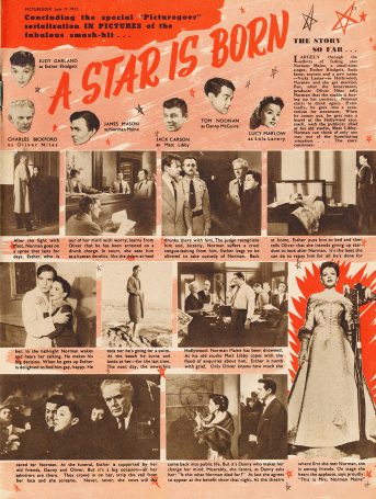 "Judy Garland in ""A Star Is Born"" - Picturegoer magazine June 11, 1955"