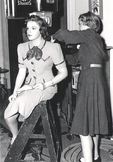 "Judy Garland on the set of ""Strike Up The Band"""