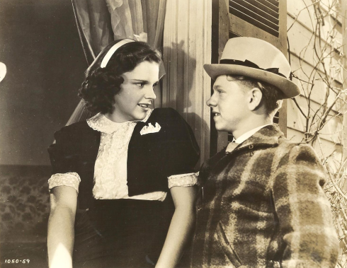 "Judy Garland and Mickey Rooney in ""Love Finds Andy Hardy"" 1938"