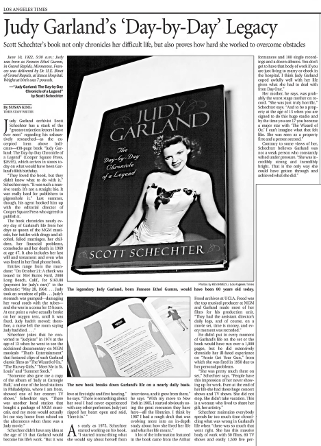 "Scott Schechter's ""Judy Garland - The Day-by-Chronicle of a Legend"""