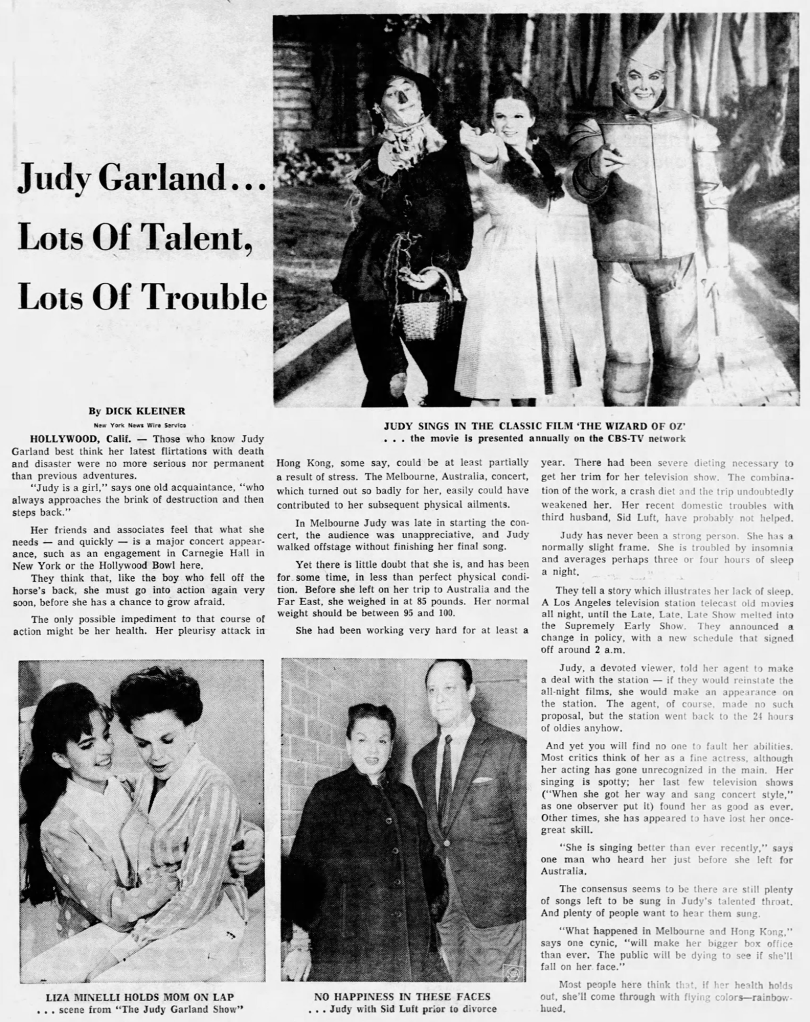 Judy Garland - Lots of Talent - June 12, 1964