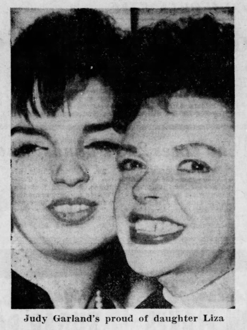 Judy Garland and Liza Minnelli 1963