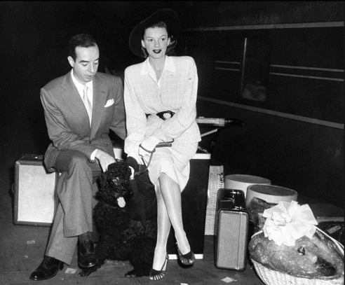 June 21, 1945 Vincente and Dog Dearborn Station