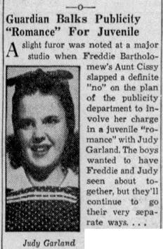 Judy Garland and Freddie Bartholomew June 5, 1937