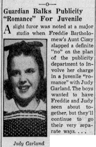 Judy Garland and Freddie Bartholomew June 5, 1937