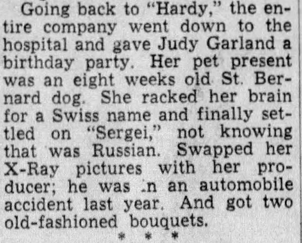 Hedda Hopper Jud Garland