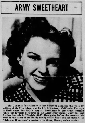 Judy Garland, the Sweetheart of the Army