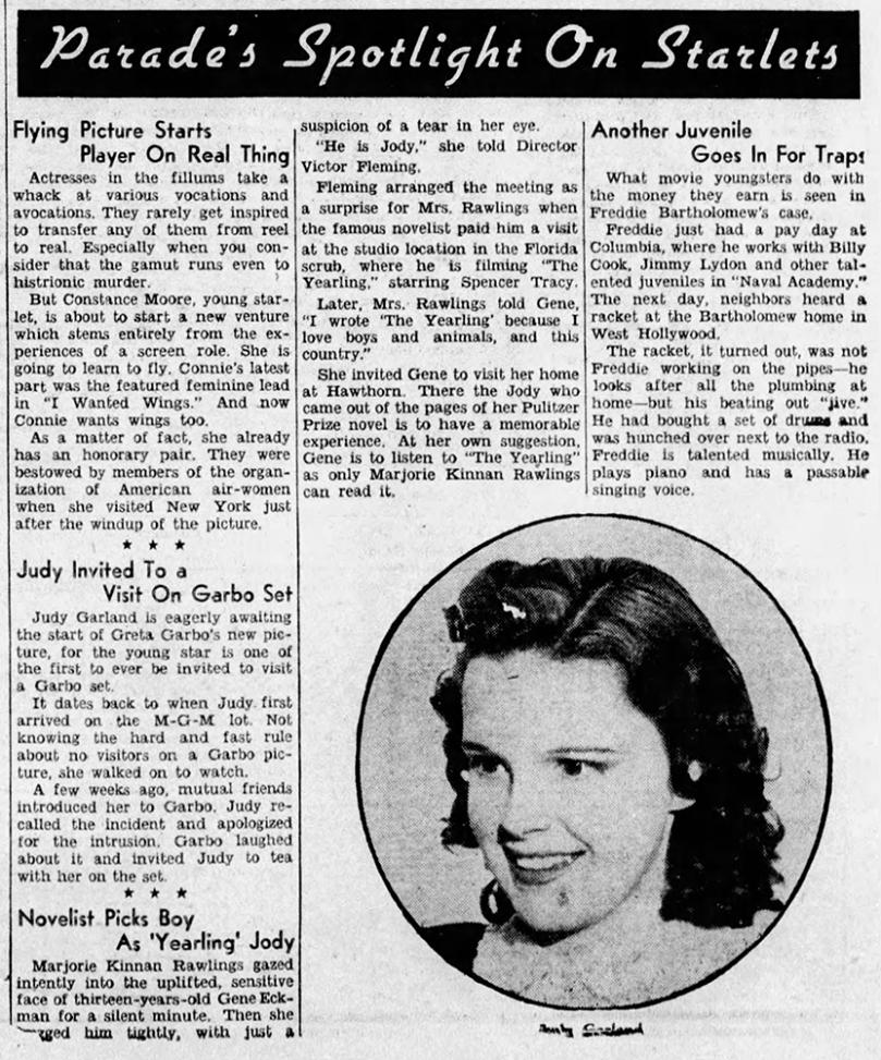 Judy Garland and Greta Garbo - Parade of Youth