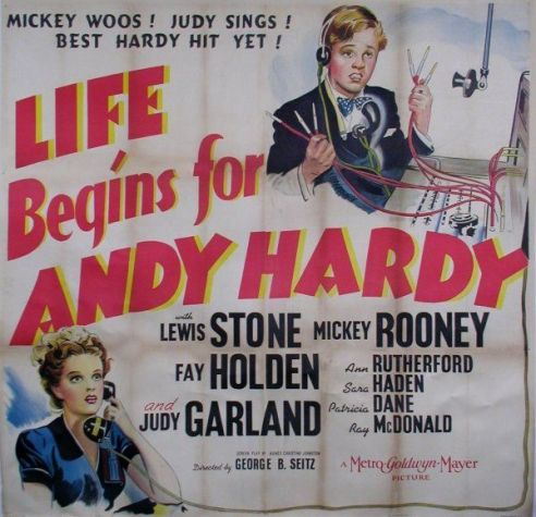 """Judy Garland and Mickey Rooney in """"Life Begins For Andy Hardy"""""""