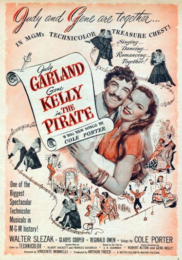 Judy Garland and Gene Kelly in The Pirate - April 1948 Motion Picture Magazine