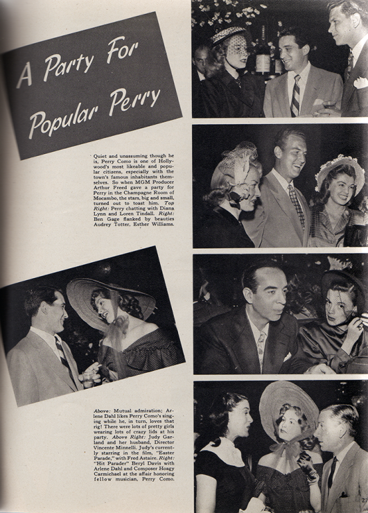 Judy Garland and Vincente Minnelli Silver Screen Magazine August 1948