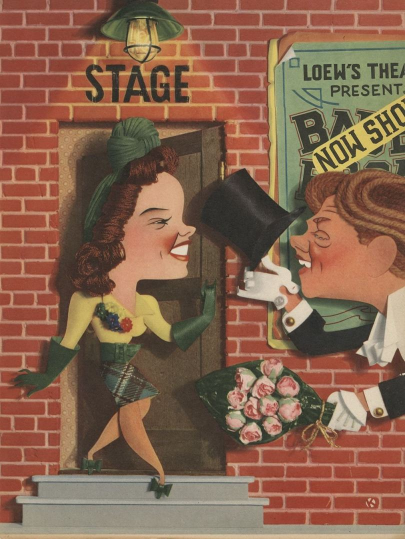 """Judy Garland and Mickey Rooney in """"Babes on Broadway"""""""