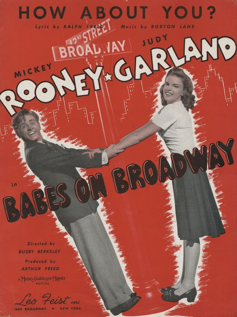 "Judy Garland and Mickey Rooney - ""How About You?"" sheet music"