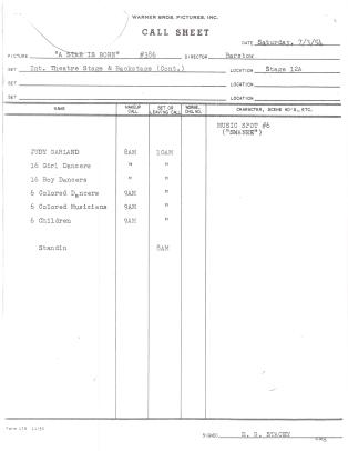 July-3,-1954-swannee-call-sheet-from--Alan-Herskowitz