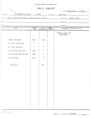 July-3,-1954-swannee-call-sheet-from--Alan-Herskowitz