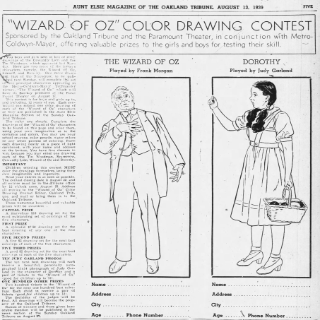 August-13,-1939-COLORING-CONTEST-Oakland_Tribune