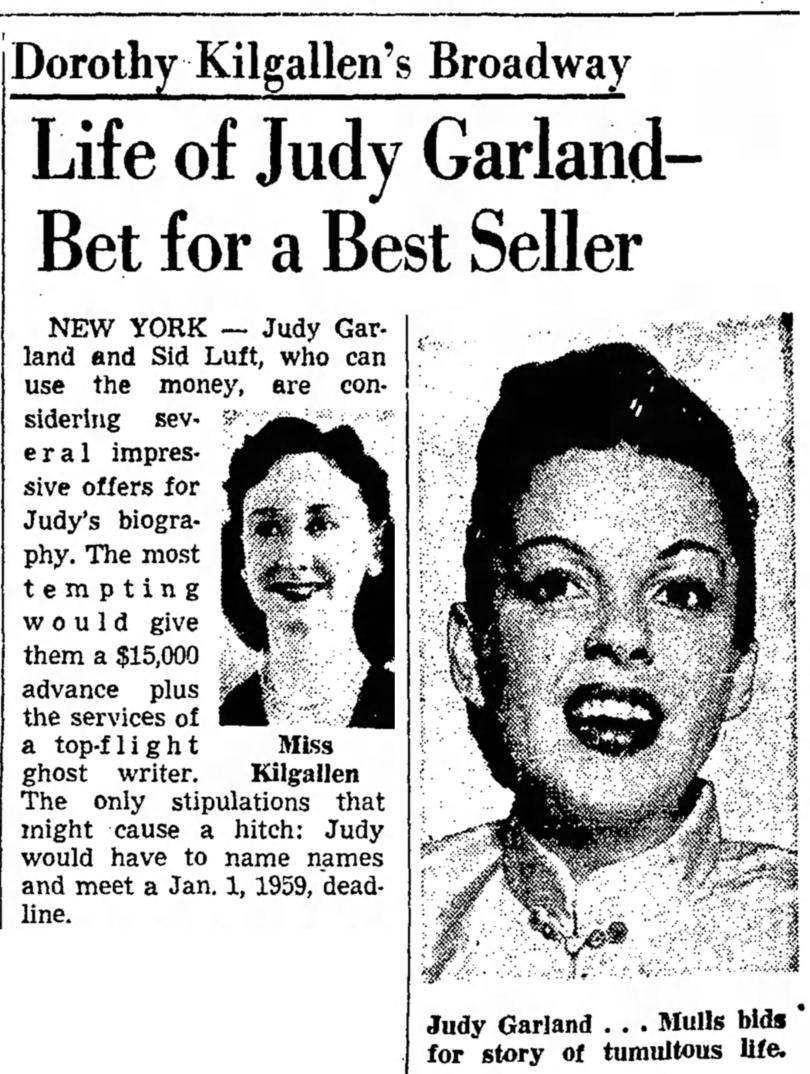 August 17, 1958 Judy Bio The Salt Lake Tribune