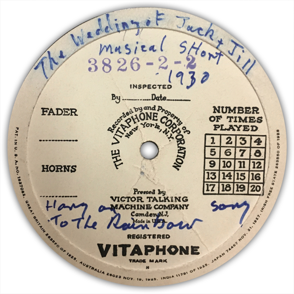 "Vitaphone Disc - ""Hang On To The Rainbow"" - Judy Garland (Baby Gumm)"