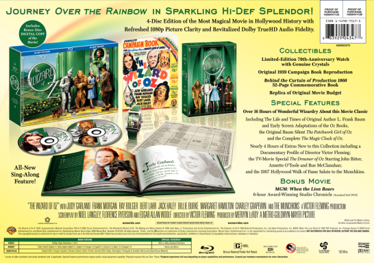 The Wizard of Oz Blu-ray back