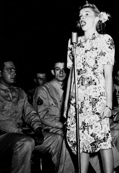 September 10, 1943 (circa?) USO Tour circa 1943 Sing out Judy