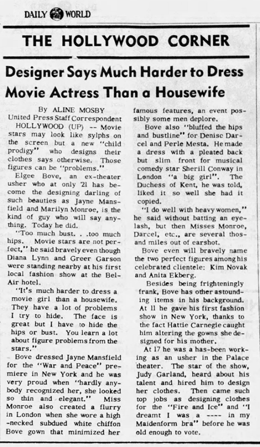 September-13,-1956-JUDY-DISCOVERS-DESIGNER-Daily-World-(Opelousas,-Louisiana)