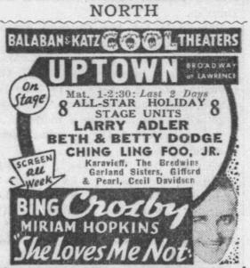 September 2, 1934 GARLAND SISTERS Chicago_Tribune 2
