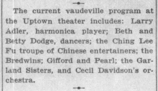 September 2, 1934 GARLAND SISTERS Chicago_Tribune