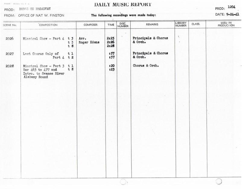 September 24, 1941 Minstrel Show