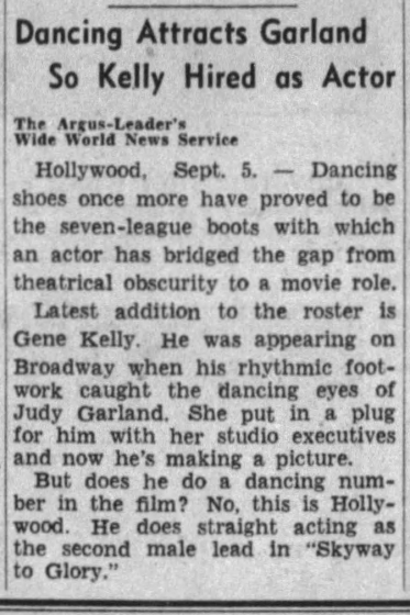 September 6, 1942 GENE KELLY Argus_Leader