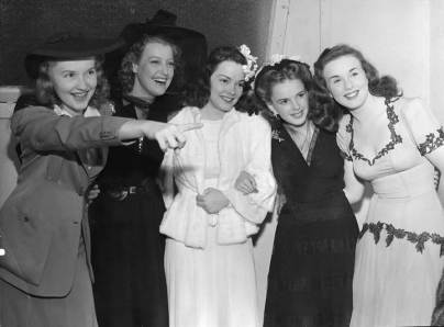Suzy Foster, Jeannette MacDonald, Kathryn Grayson, Judy Garland and Deanna Durbin