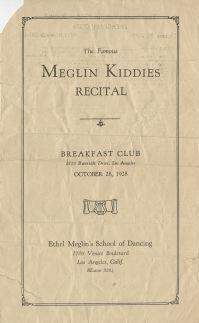 October 28, 1928 Meglin Kiddies Program 1