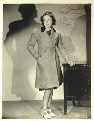 Judy Garland in coat