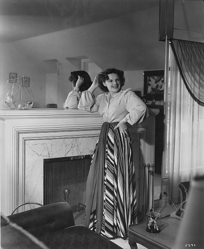Judy Garland at home in her Stone Canyon home