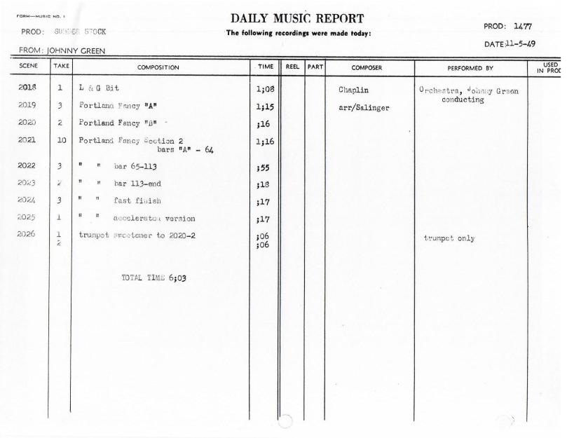 November 5, 1949 Portland Fancy Orch only