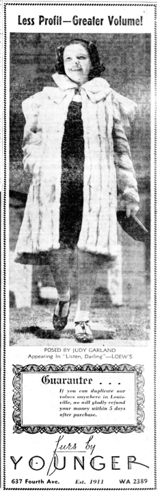 October 23, 1937 (photo taken fall 1937) JUDY FUR The_Courier_Journal (Louisville KY)
